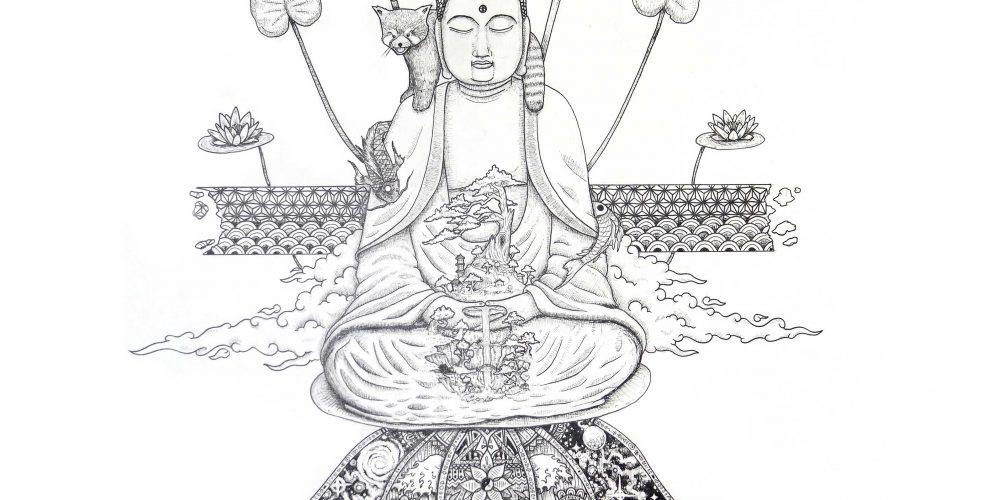 sketch of big Buddha